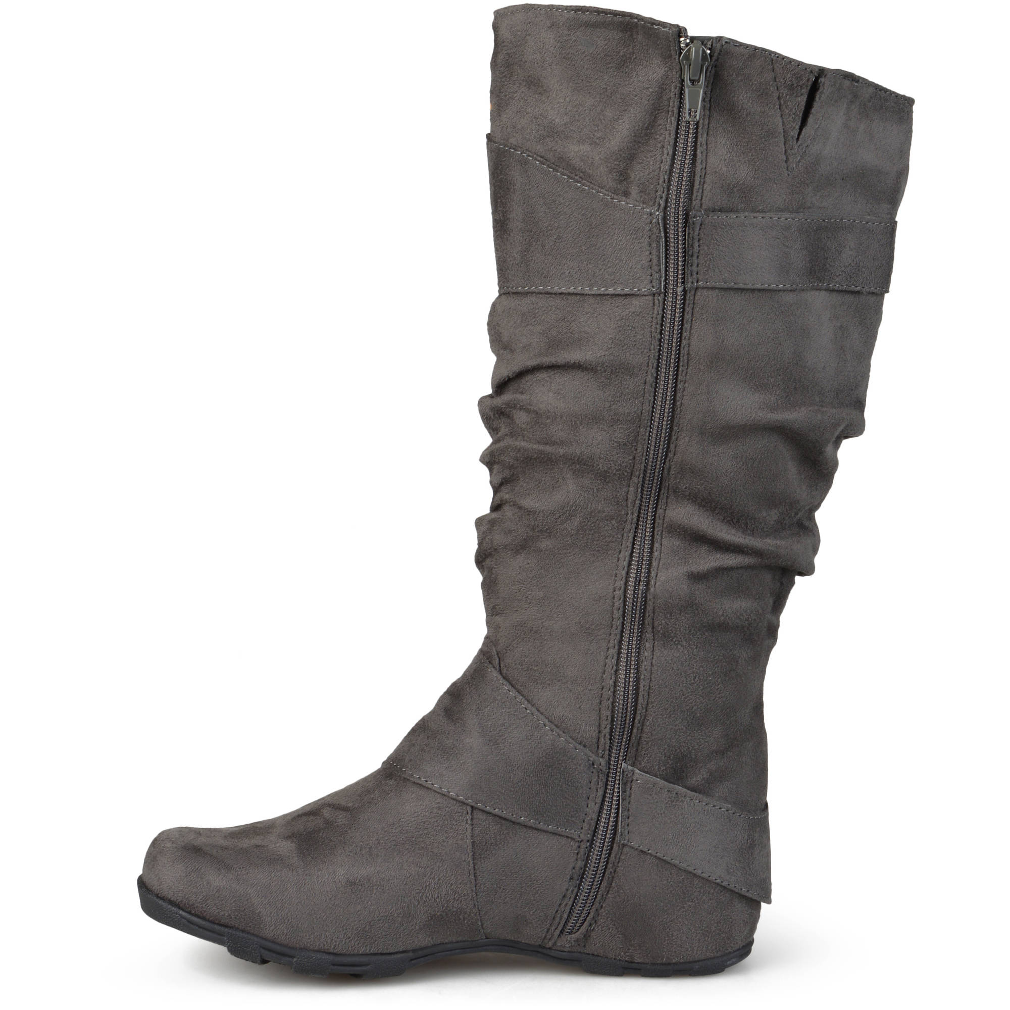 e68105e80ad5c Details about Women s Slouchy Wide Calf Boots