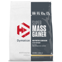 Dymatize Super Mass Gainer, High Protein & Carb Blend, Gourmet Vanilla, 52g Protein/Serving, 12 Lb