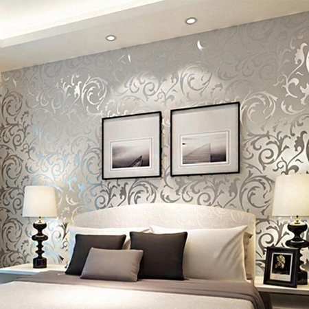 - Elecmall    3D Rolls 10m Print Embossed Non-woven  Wallpaper   Bedroom Home Wall Decor Wall Elec
