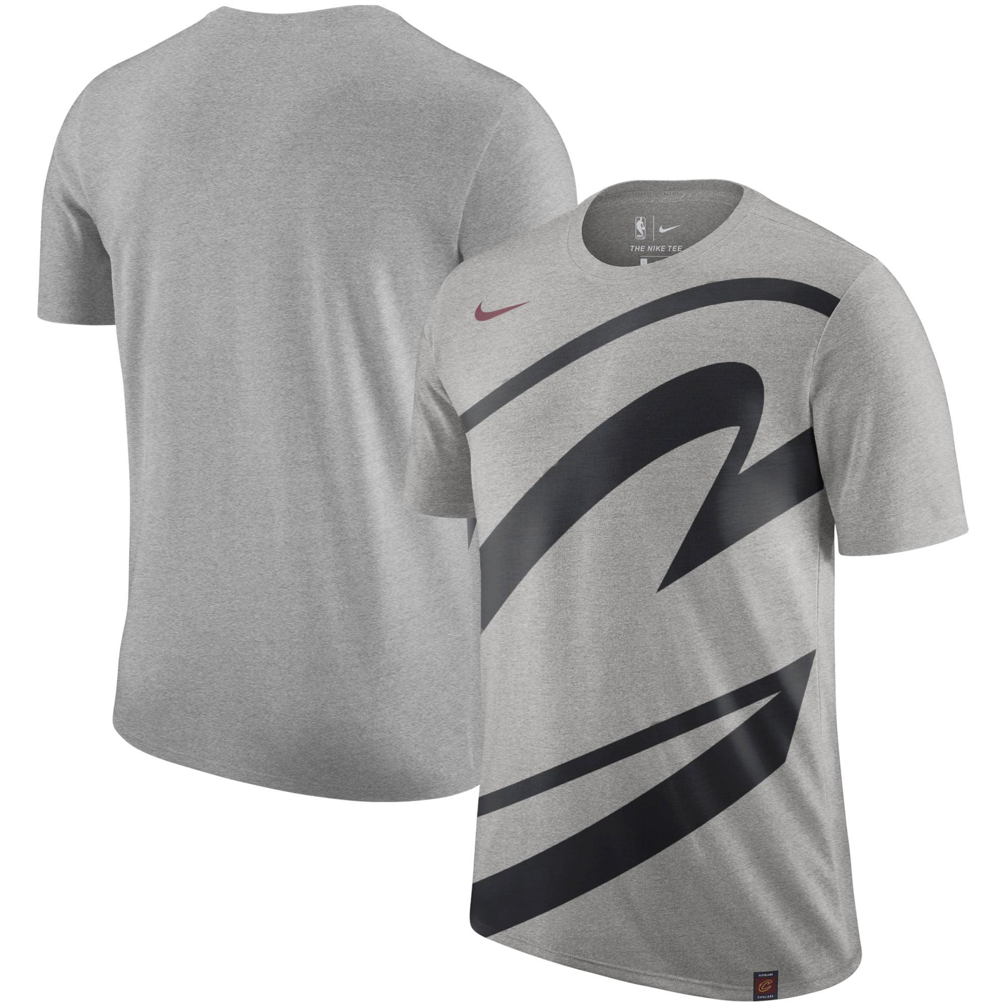 wholesale dealer ff88b 6d149 Cleveland Cavaliers Nike Oversize Logo Performance Tri-Blend T-Shirt - Gray