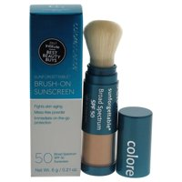 Colorescience Sunforgettable Brush-On Sunscreen Foundation SPF 50, Fair, 0.21 Oz