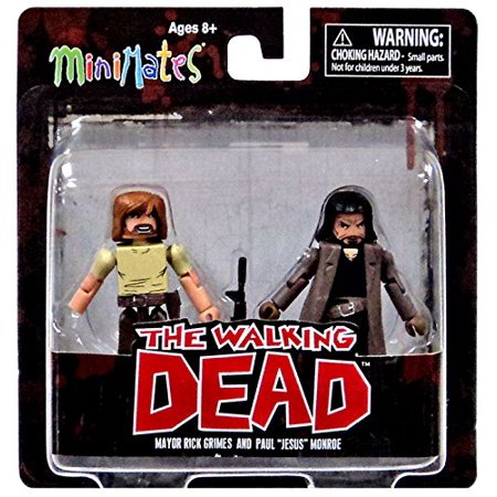 Toys The Walking Dead Minimates Series 7: Rick & Jesus Figure Figure (2 Pack), A Diamond Select Toys release By Diamond Select
