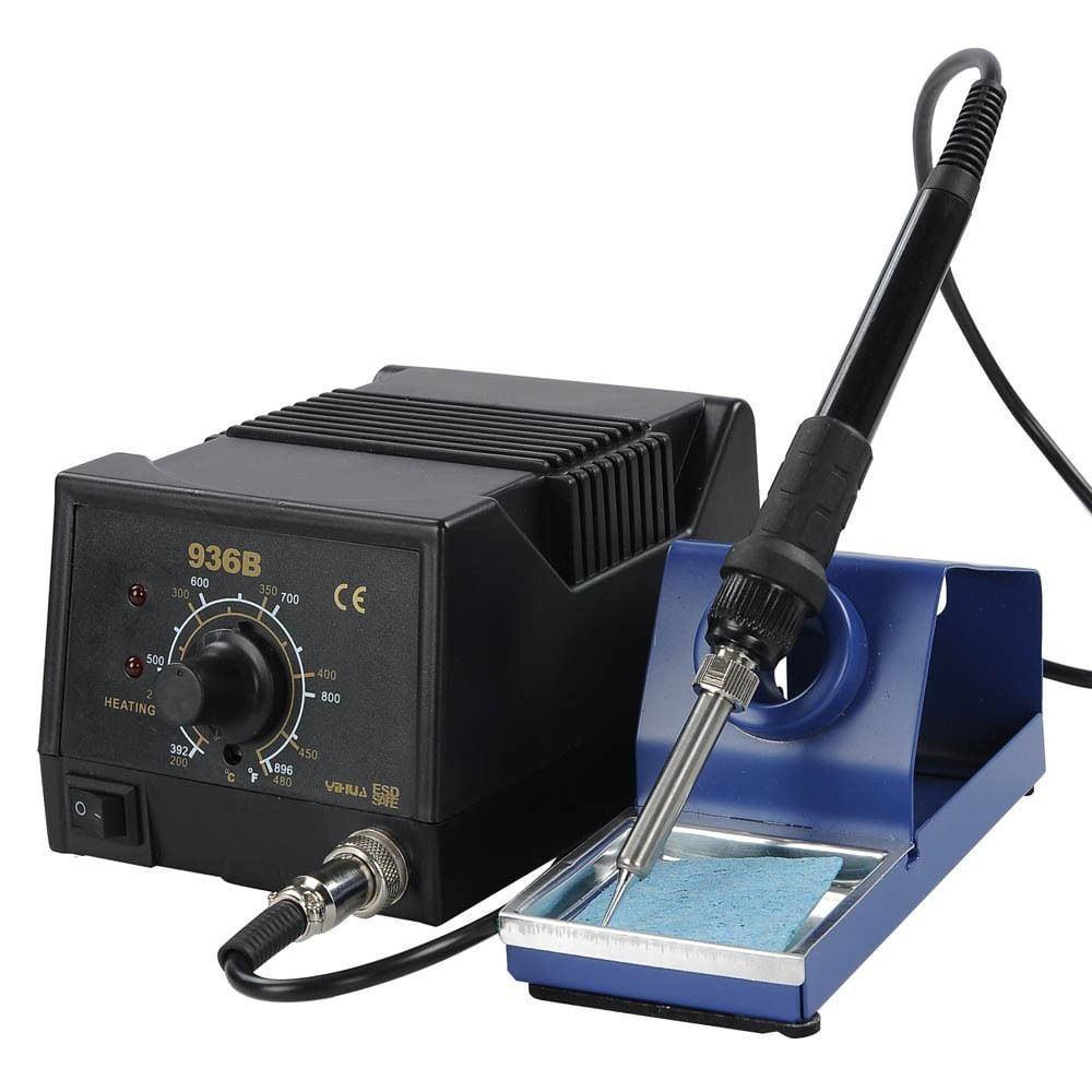 Ktaxon 936B ESD Electric Rework Iron Soldering Station, SMD Digital Desolder Welder / Welding Stand Holder Tool Kit, 50W 110V
