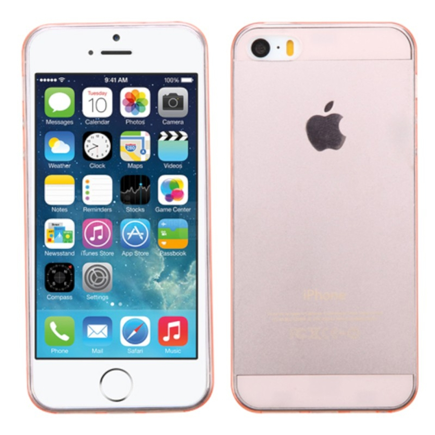 Insten Transparent Rose Gold Rubber Tpu Skin Cover Case For Iphone Se 128gb Rosegold 5s 5