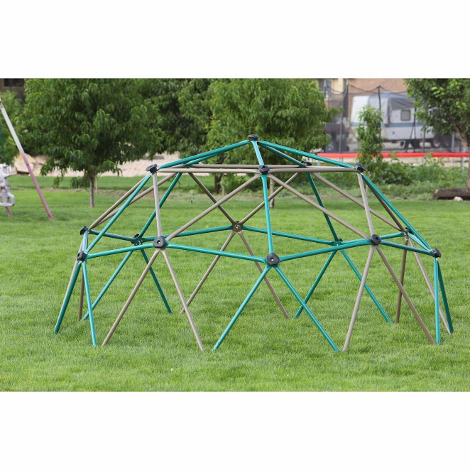 Easy Outdoor Space Dome - Jungle Gym Playground Equipment, Backyard Outside Toddler Toys, Monkey Bars Climbing Tower Ages 3-10
