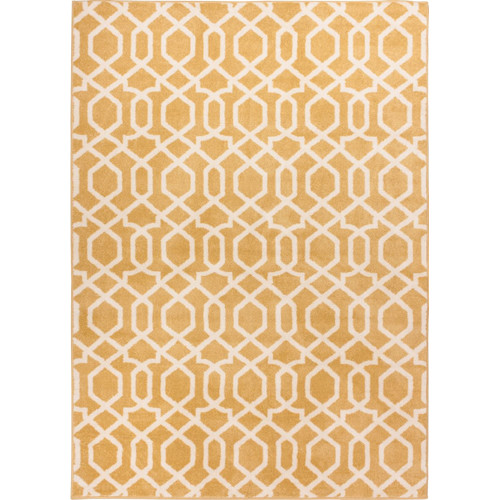 Well Woven Sydney Geo Helix Gold Area Rug