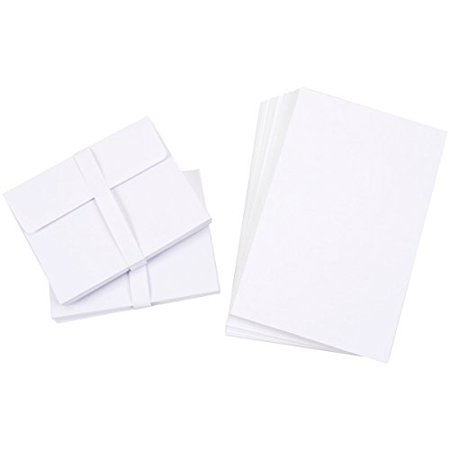 "150 Blank Greeting Cards & Envelopes 4x5"" White - Walmart.com"
