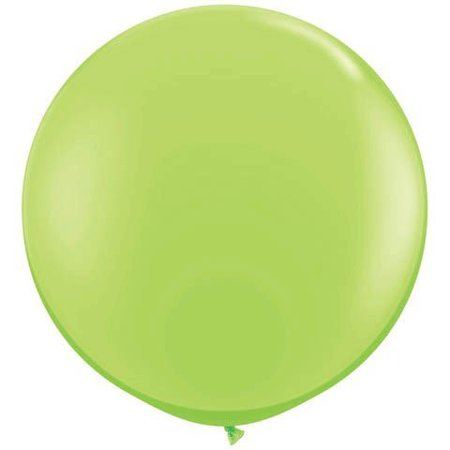 36 Inch Latex Balloon Lime Green (Premium Helium Quality) Pkg/3, Tear Shaped By PMU](Helium Balloon Lights)