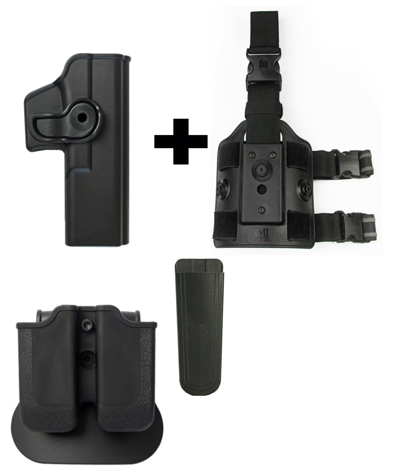IMI Defense Z2000 MP00 Double Mag Holder & Paddle + Z1010 Rotate Holster Glock 17 22 28 31 34 Right Hand Gen 4... by