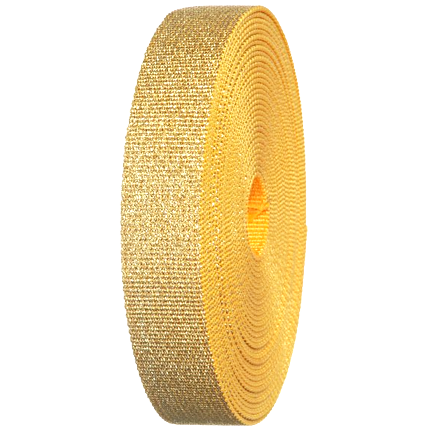 """Gold Glitter Canvas Webbing Roll 1.25"""" Width Durable Strap for Belts, Bags, Crafts"""