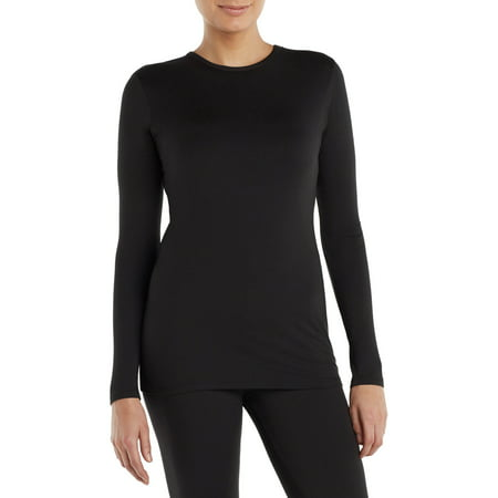 ClimateRight by Cuddl Duds Women's and Women's Plus Sueded Warmth Long Underwear Top ()