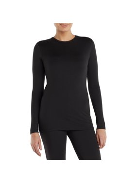ClimateRight by Cuddl Duds Women's and Women's Plus Sueded Warmth Long Underwear Top