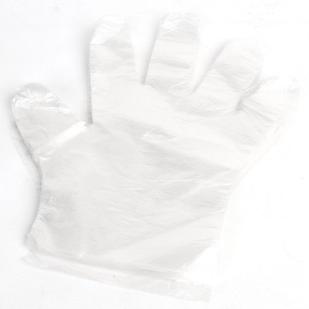 Clear Polyethylene Deal Garbage Shoe Shining Disposable Gloves 25 Pair