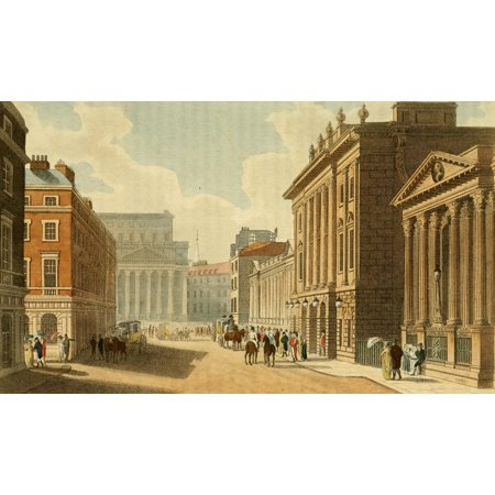 Repository Of Arts 1817 South View Of The Bank Poster Print By Unknown