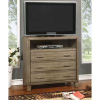 Furniture of America Sunjan Transitional Weathered Elm 3-drawer Media Chest by FOA