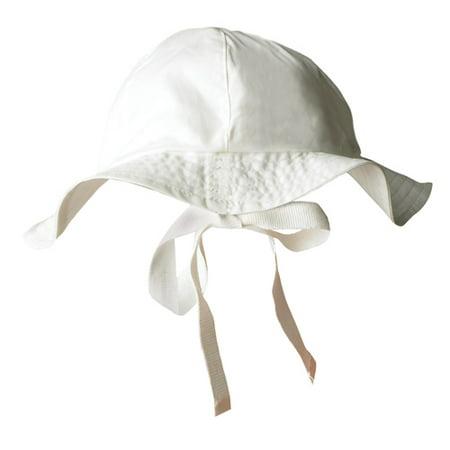 Organic Cotton Unisex Baby Poplin Sun Hat Size 0-3m Off-white