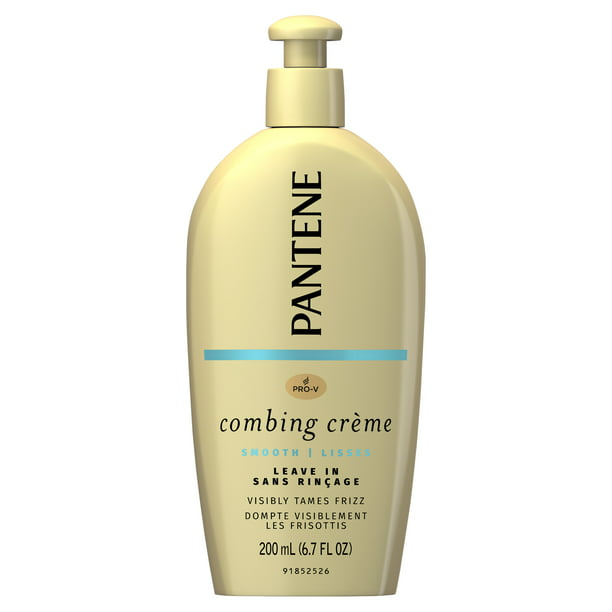 Pantene Combing Crème, Smoothing Leave In Cream, No Frizz, 6.7 fl oz