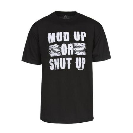Mens Mud Up or Shut Up Short-Sleeve Black T-Shirt - Large - image 1 de 1