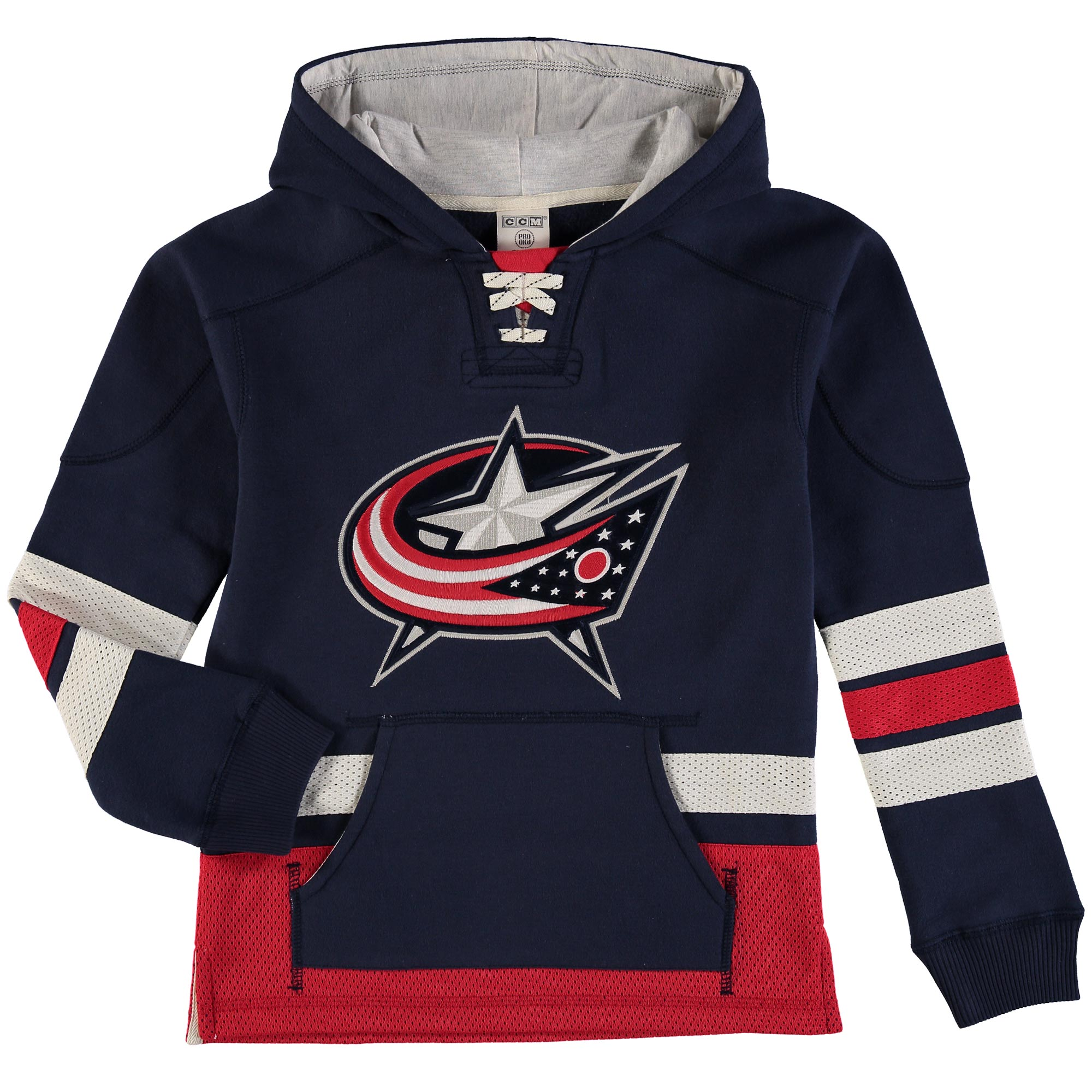 Columbus Blue Jackets Reebok Youth Retro Skate Hoodie Navy by Outerstuff