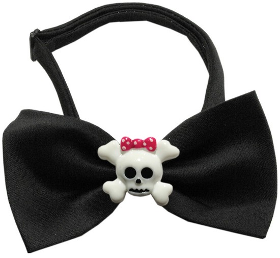 Image of Girly Skull Chipper Black Bow Tie