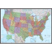 24x36 United States, USA US Decorator Wall Map Poster Mural