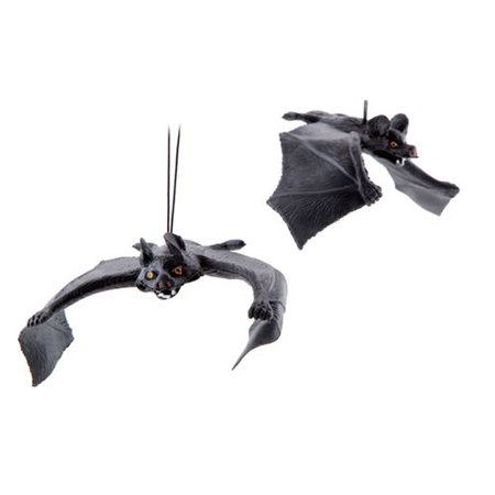 Halloween 5 Ending Scene (Fancyleo  5 PCS Halloween Simulation Animal Bat Toy Pendant Bar Scene Props Hot Sale April Fools Day Halloween)