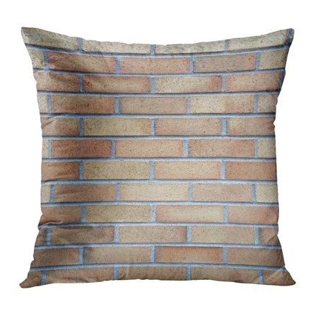 ECCOT Brown Abstract Brick Tiling Red Aged Architecture Block Cement Clay Pillowcase Pillow Cover Cushion Case 20x20 inch