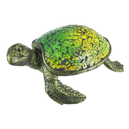 Cute Mosaic Green Glass Sea Turtle Accent Lamp for $<!---->