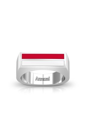 Arsenal Fc Enamel Ring In Red And White