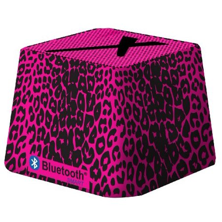 Xit Audio Bluetooth Wireless Mini Portable Speaker System for iPods, iPhones, iPads, Androids, and MP3 Players (Pink Leopard)