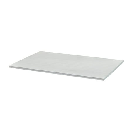 "Monoprice Desk Table Top Shelf for Sit-Stand Height Adjustable Desks, 47.2"" x 29.5"" rectangular 1"" thick, pre-drilled holes, White - Workstream Collection"