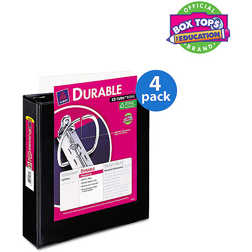 "Avery 2"" Durable View Binder with EZ-Turn Ring, Value Pack of 4"