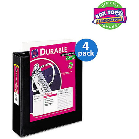 4 pack avery durable view binder with slant rings 11 x 8 1 2