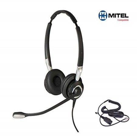 Mitel Certified Jabra BIZ 2400II DUO UNC Headset Bundle