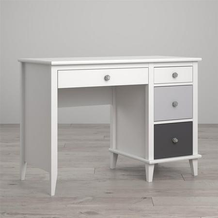Kids Monarch Hill Poppy Desk White/Gray - Little Seeds