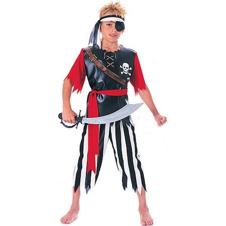 Boys Pirate King Child Halloween Costume Shirt Pants Waist Sash - Children King Costume