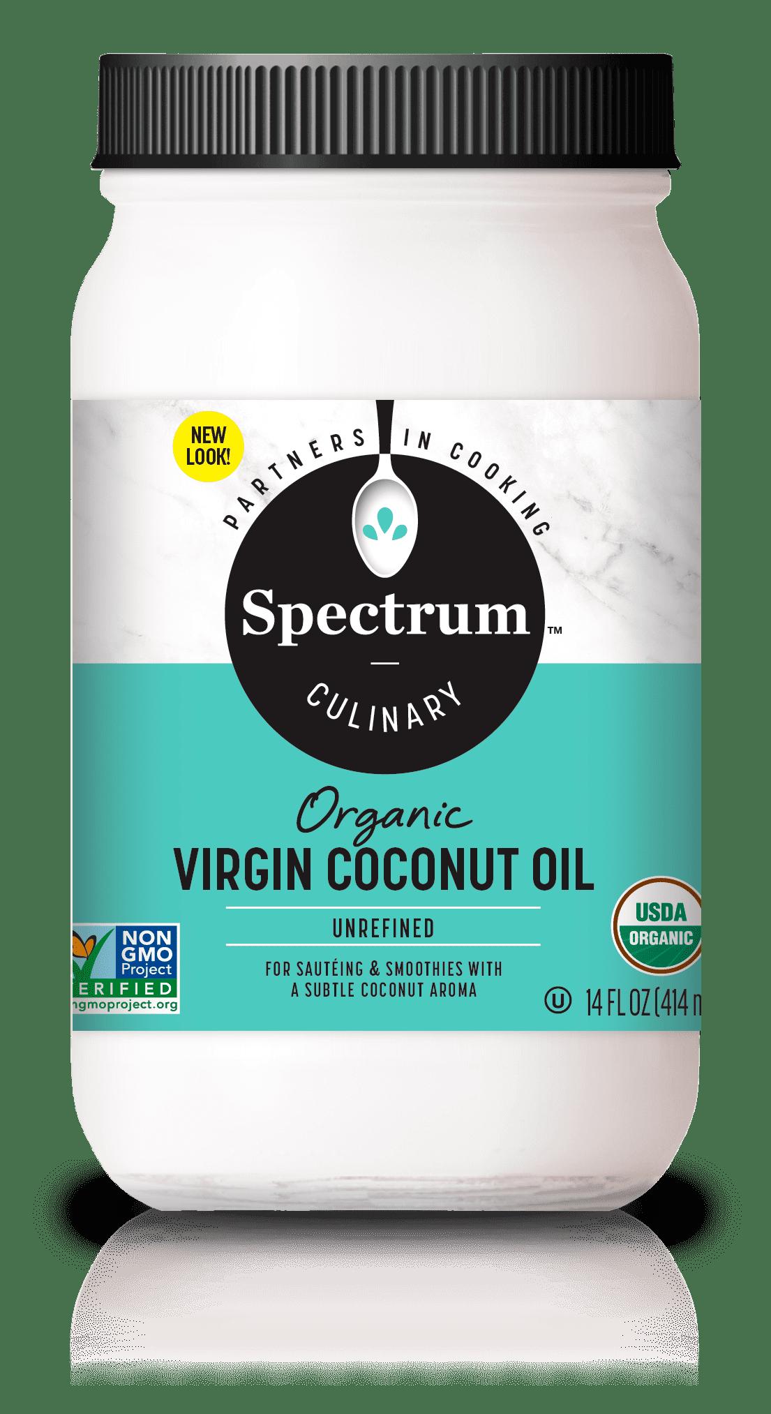 Spectrum Culinary Organic Unrefined Virgin Coconut Oil, 14 fl  oz