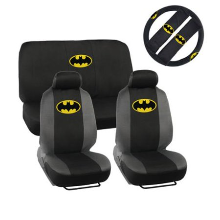 Magnificent Warner Brothers Batman Car Seat Covers With Five Headrest Covers Dailytribune Chair Design For Home Dailytribuneorg