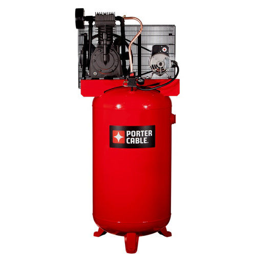 Porter-Cable PXCMV5048055 5 HP 80 Gallon TOPS Two Stage Oil-Lube Industrial Air Compressor by