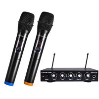 Sound Town UHF 16 Channels Wireless Microphone and Karaoke Mixer System with 2 Handheld Microphones, for Church, School, Wedding, Meeting, Karaoke (SWM16-KM)