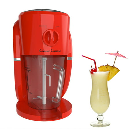 Frozen Drink Maker, Mixer and Ice Crusher Machine for Margaritas, Pina Coladas, Daiquiris, Shaved Ice Treats or Slushy Desserts by Classic Cuisine
