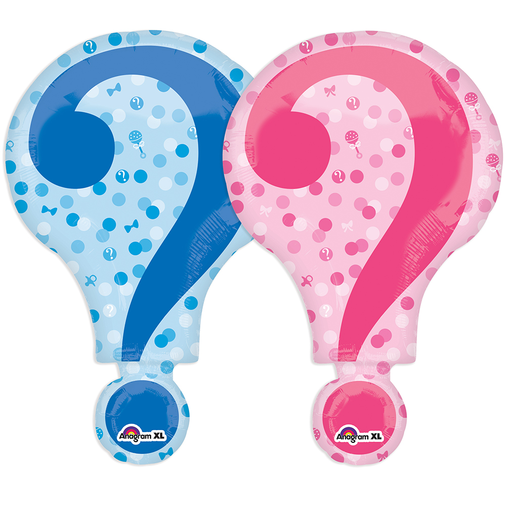 "Gender Reveal 28"" Balloon (Each) - Baby Shower Party Supplies"