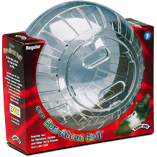 "Super Pet Run-About Ball 7"" Clear"