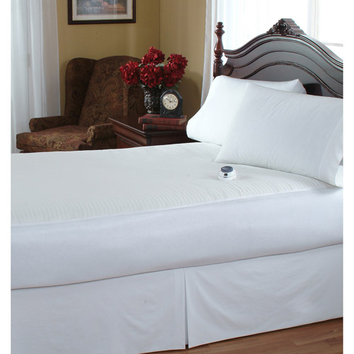 Serta Waterproof Warming Mattress Pad, White