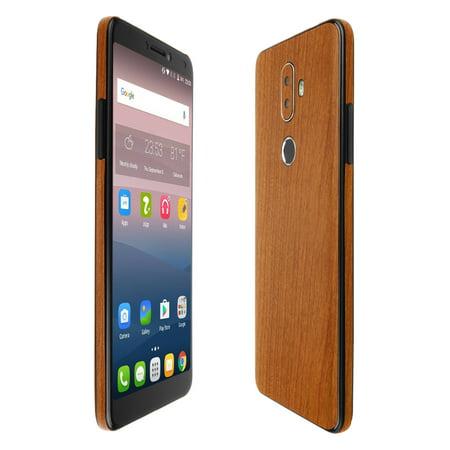 Skinomi TechSkin - Light Wood Skin & Screen Protector for Alcatel 3V 3v Caps Skin Formula