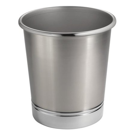 Pure Ceramic with Metal Chrome Trim (Chrome Wastebasket)
