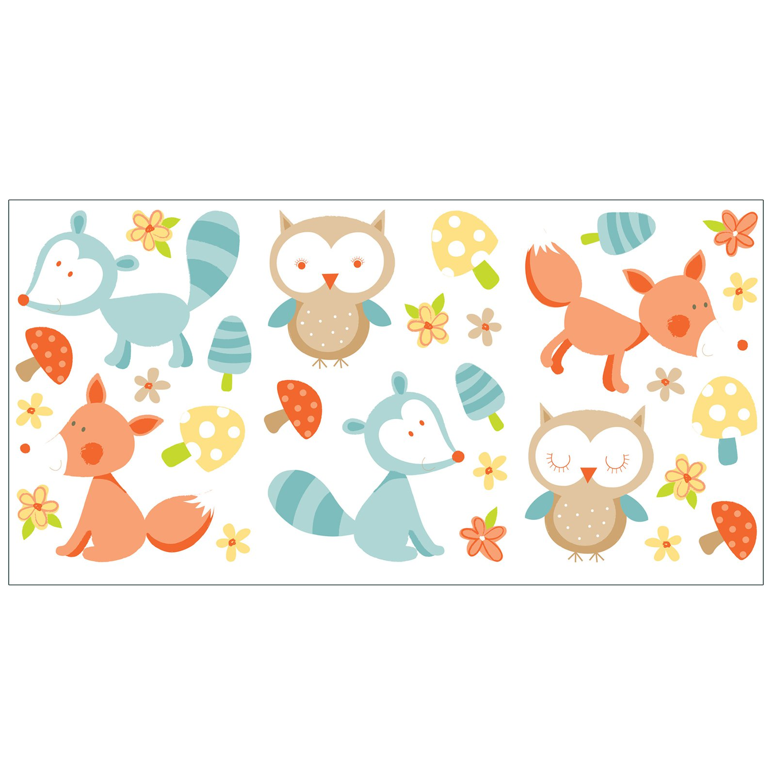 Fun4Walls Forest Friends Wall Stickers - Set of 58