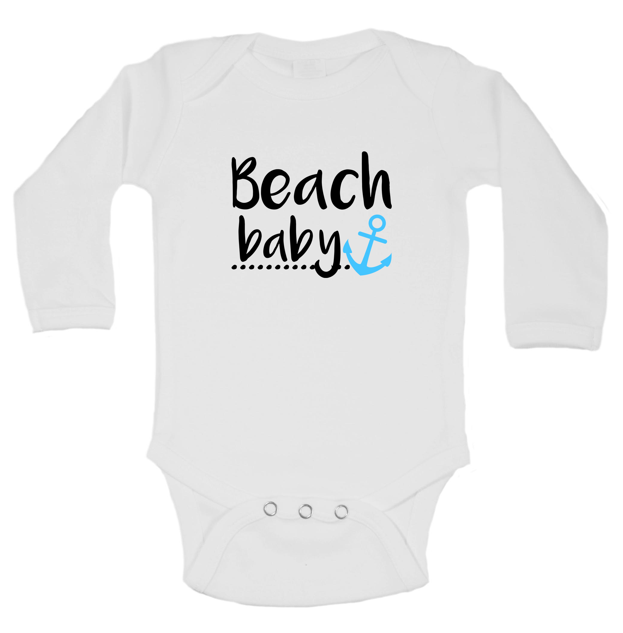 Baby/'s First Beach Trip Infant Bodysuit *Multiple Beach Decals and Colors Available*