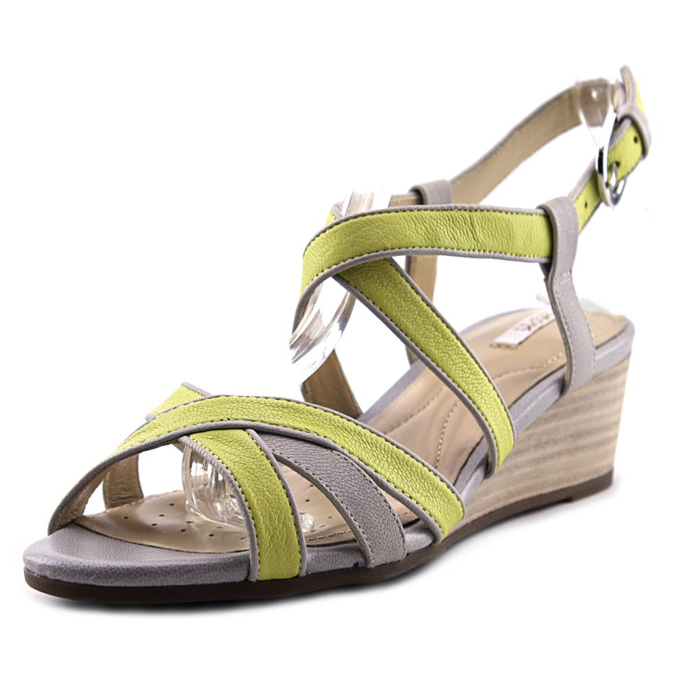 Geox Lupe   Open Toe Leather  Wedge Sandal
