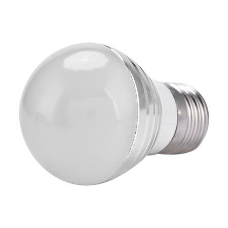 Qiilu E27 3W RGB LED Color Changing Candle Light Lamp Bulb +Remote Control Kit ,RGB Candle Light, RGB LED Color Changing Candle Light - image 3 de 6